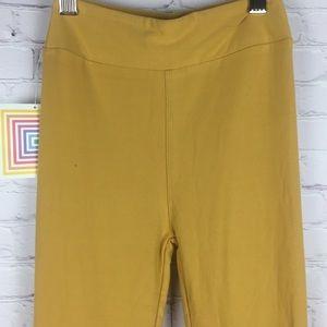 SOFT One Size (2-10) Mustard Yellow Leggings NEW